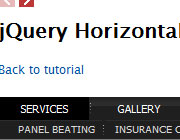 How To Build A Simple jQuery Horizontal Drop Down Menu