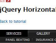 How To Build A Simple jQuery Horizontal Drop Down Menu