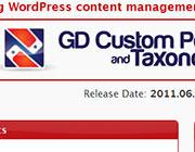 WordPress Plugins Giveaway: GD Custom Posts And Taxonomies Tools Pro
