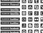 Freebies: Black & White Minimal Social Icons Pack