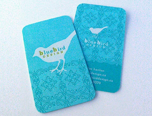 Bird Blue Card Design