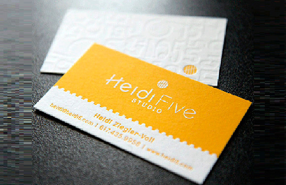 Letterpress Heidi Five Card Studio Business