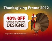 Thanksgiving Promo 2012 – 40% OFF on MotoCMS Designs
