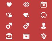 Freebie: 20 Elegant Love and Romance Glyph Icons