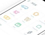 Fresh and Clean Light-Colored Mobile App Designs
