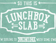 Awesome Font: Lunchbox Slab Serif Typeface