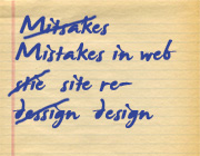 Top Mistakes When Redesigning a Website