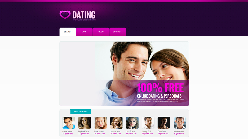 dating service website template Beautiful dating website templates and design integration service from pg dating pro select a new design for your online dating site to give it a completely new look and feel.