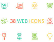 Freebie: 38 Flat Web Icons Pack