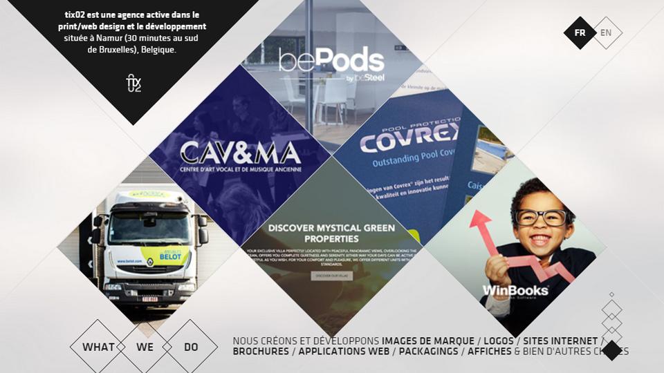 Splendid Website Design with Angled Blocks