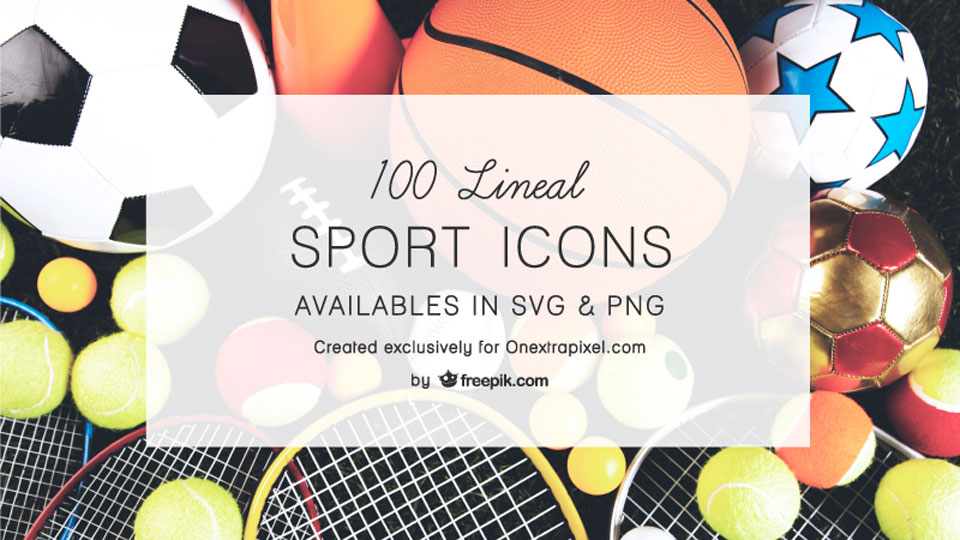 Freebie: 100 Lineal Sport Icons Pack (SVG and PNG)