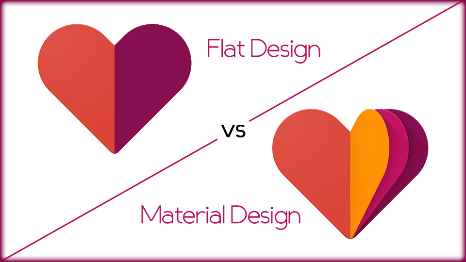 Flat Design and Material Design Are Same…Oh Are They Really!