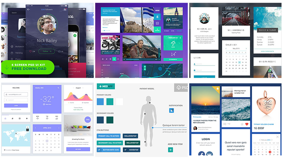 20 Free Highly Usable UI Kits for your Next Project