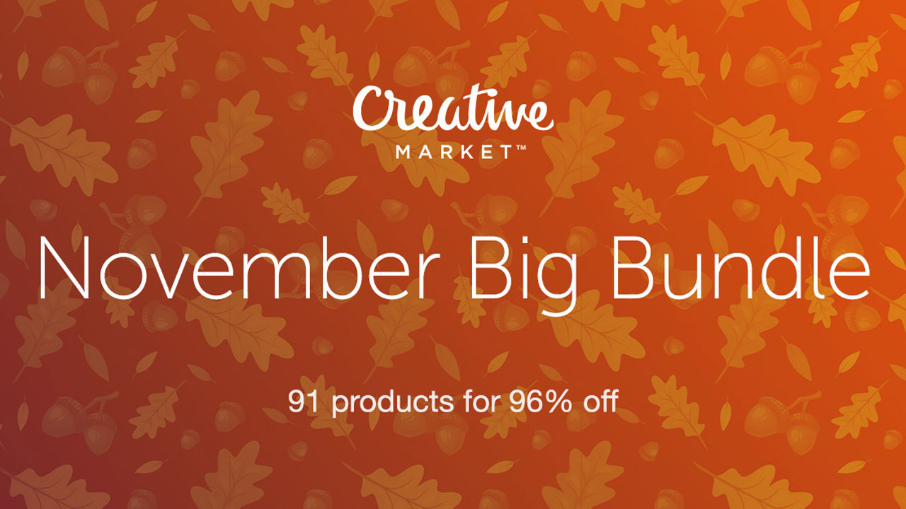 Creative Market's November Bundle: Over $1,130 of Design Resources For Only $39!