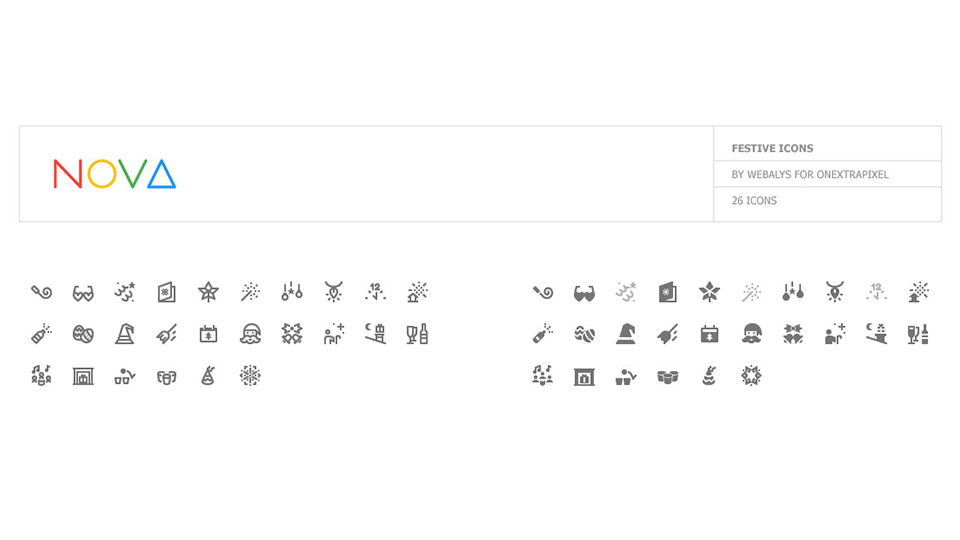 Freebie: Celebrate The Festive Season with 26 Special Festive Icons