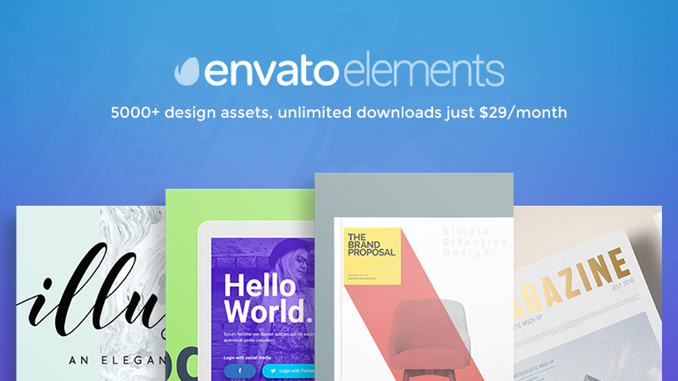 Envato Elements: Design Projects Made Easy