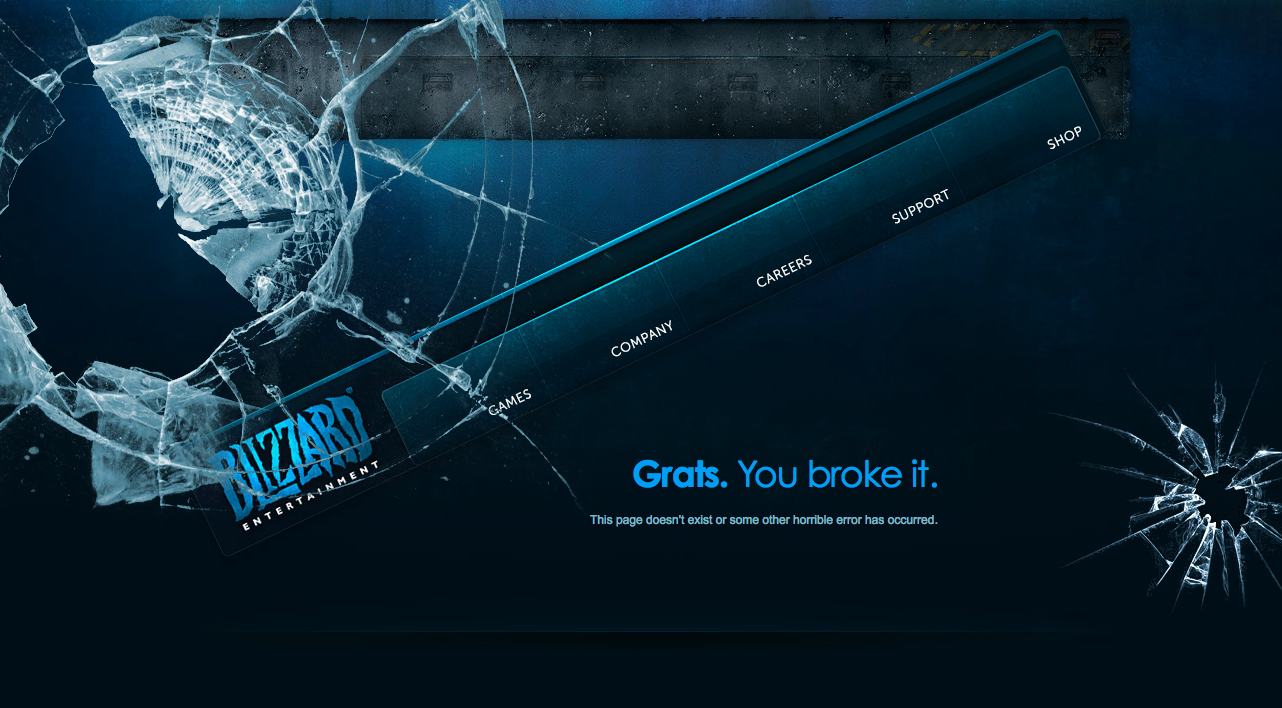 Blizzard Entertainment 404