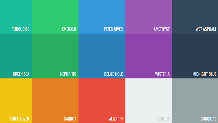Flat Design - Color Palette