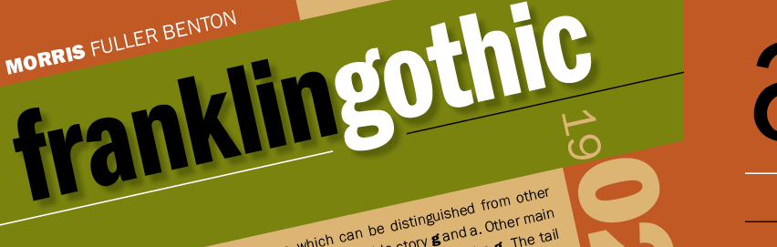 Sans Serif Typefaces - Franklin Gothic