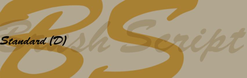 Script Typefaces - Brush Script
