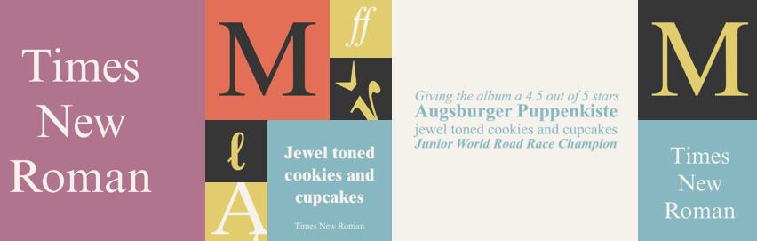 Serif Typefaces - New Times Roman