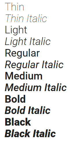 Web Typography - Fonts