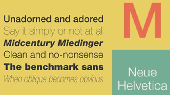 Web Typography - Neue Helvetica