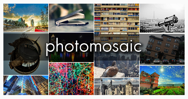 Photomosaic plugin