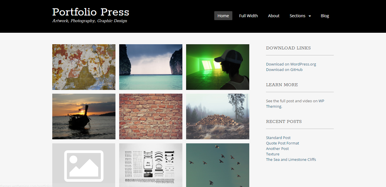 Portfolio Press WP theme