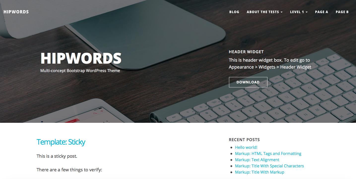 Hipwords theme