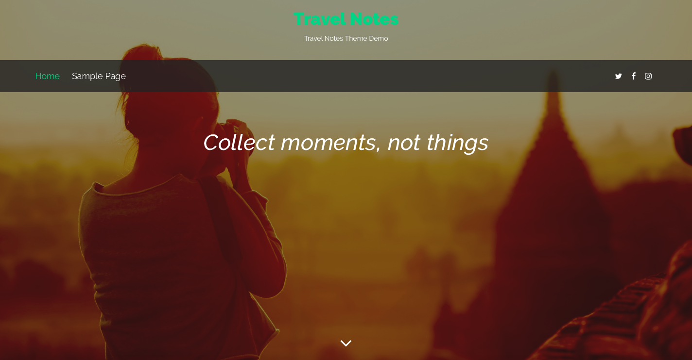 Travel Notes theme