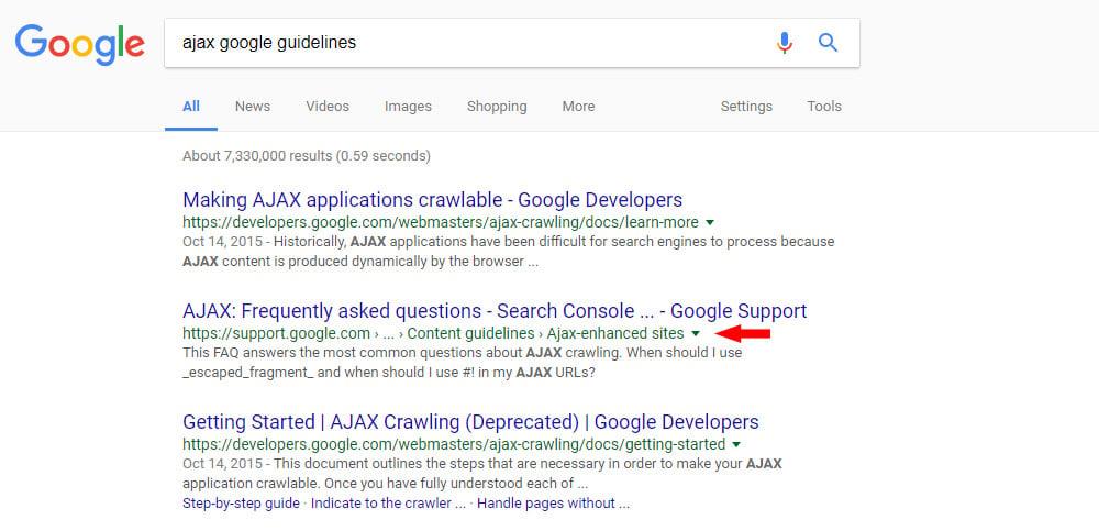 google breadcrumbs serps