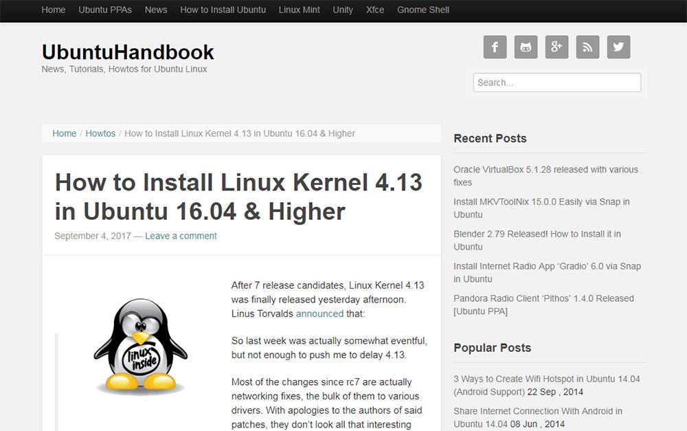 ubuntu handbook breadcrumbs