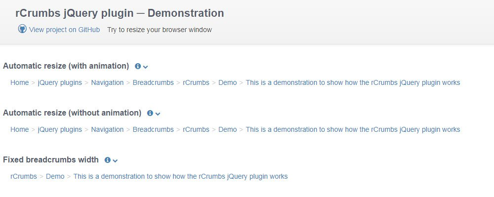 jquery rcrumbs plugin