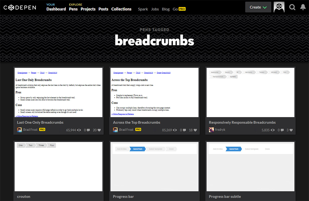codepen breadcrumbs search