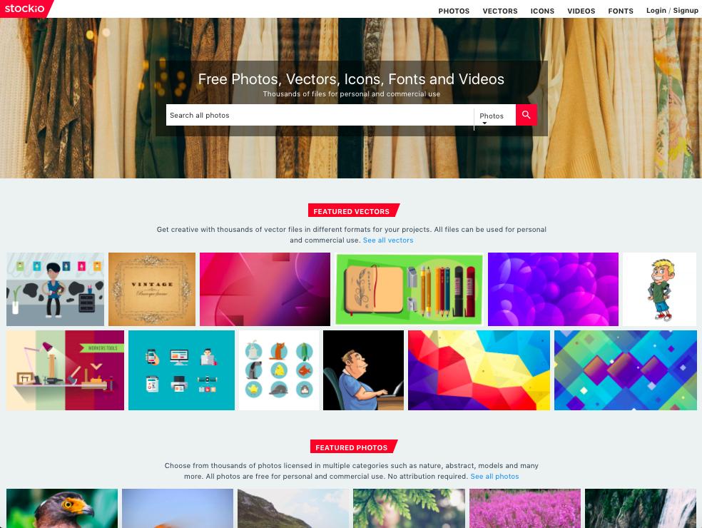 stockio homepage
