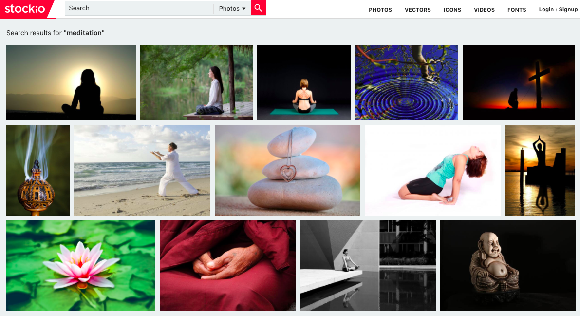 stockio photo search for meditation