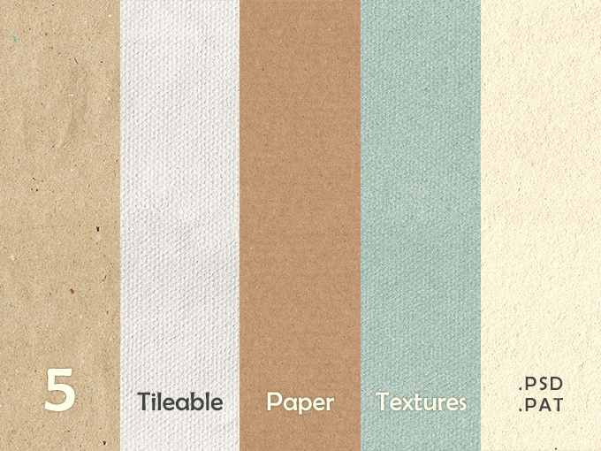 5 Seamless Paper Textures