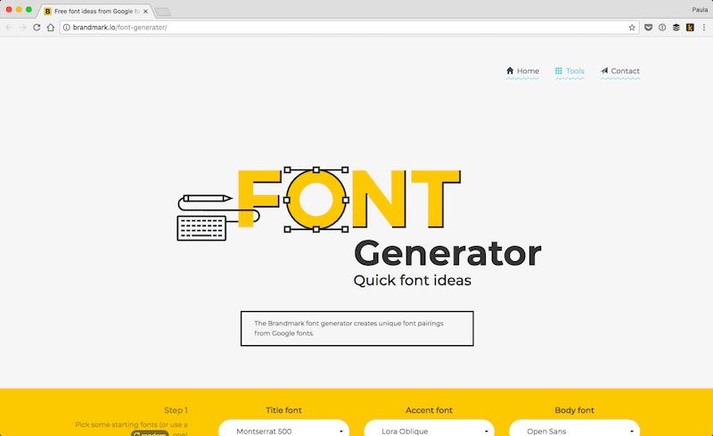 Font Generator by Brandmark