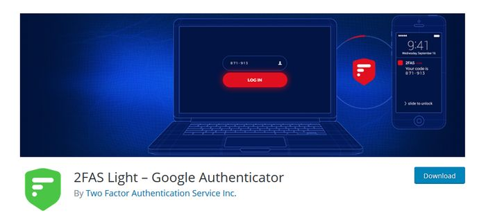 2FAS Light WordPress Plugin for Two Factor Authentication