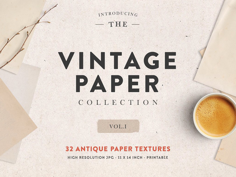 The Vintage Paper Collection Vol 01