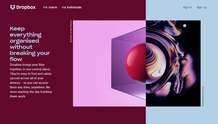Asymmetrical Split Screen Web Design Trends 2018
