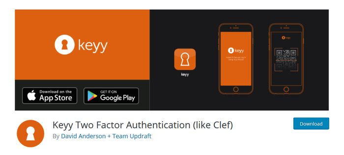Keyy WordPress Plugin for Two Factor Authentication