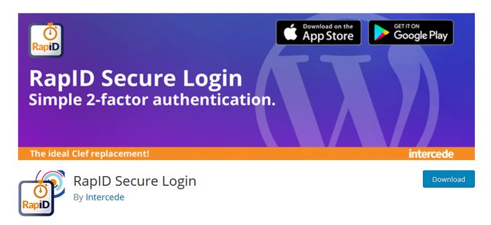 Rapid Secure Login WordPress Plugin for Two Factor Authentication