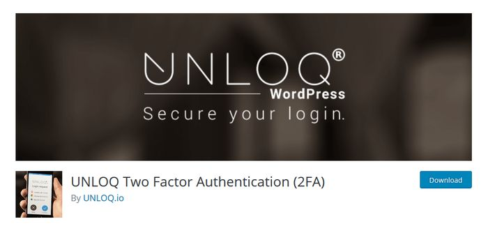 UNLOQ WordPress Plugin for Two Factor Authentication
