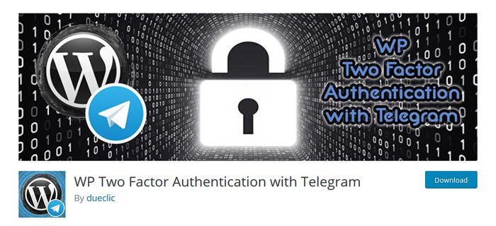 WP Two Factor Authentication with Telegram
