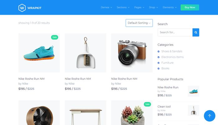 WrapKit shop listing for BootStrap 4