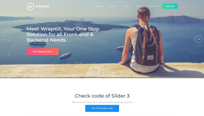 WrapKit Slider for Bootstrap 4