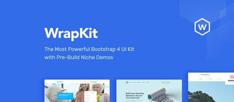 Review: WrapKit Complete UI Kit for Bootstrap 4 - Onextrapixel