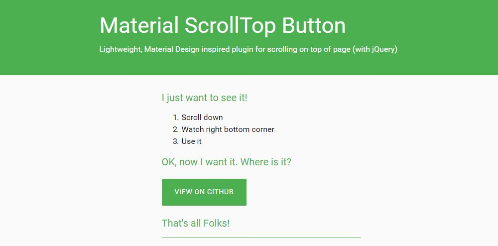 Best Free Scroll To Top JavaScript Plugins & Snippets